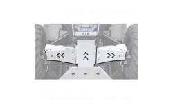Protecciones trapecios delanteros Aluminio RZR 570